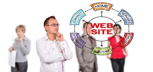 Proiectantul priveste schema website-ului
