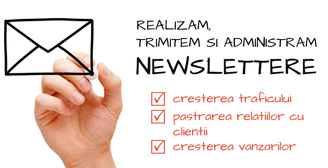 Trimitere newslettere