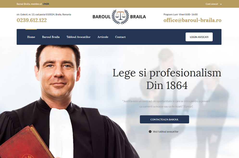 Baroul Braila   Homepage