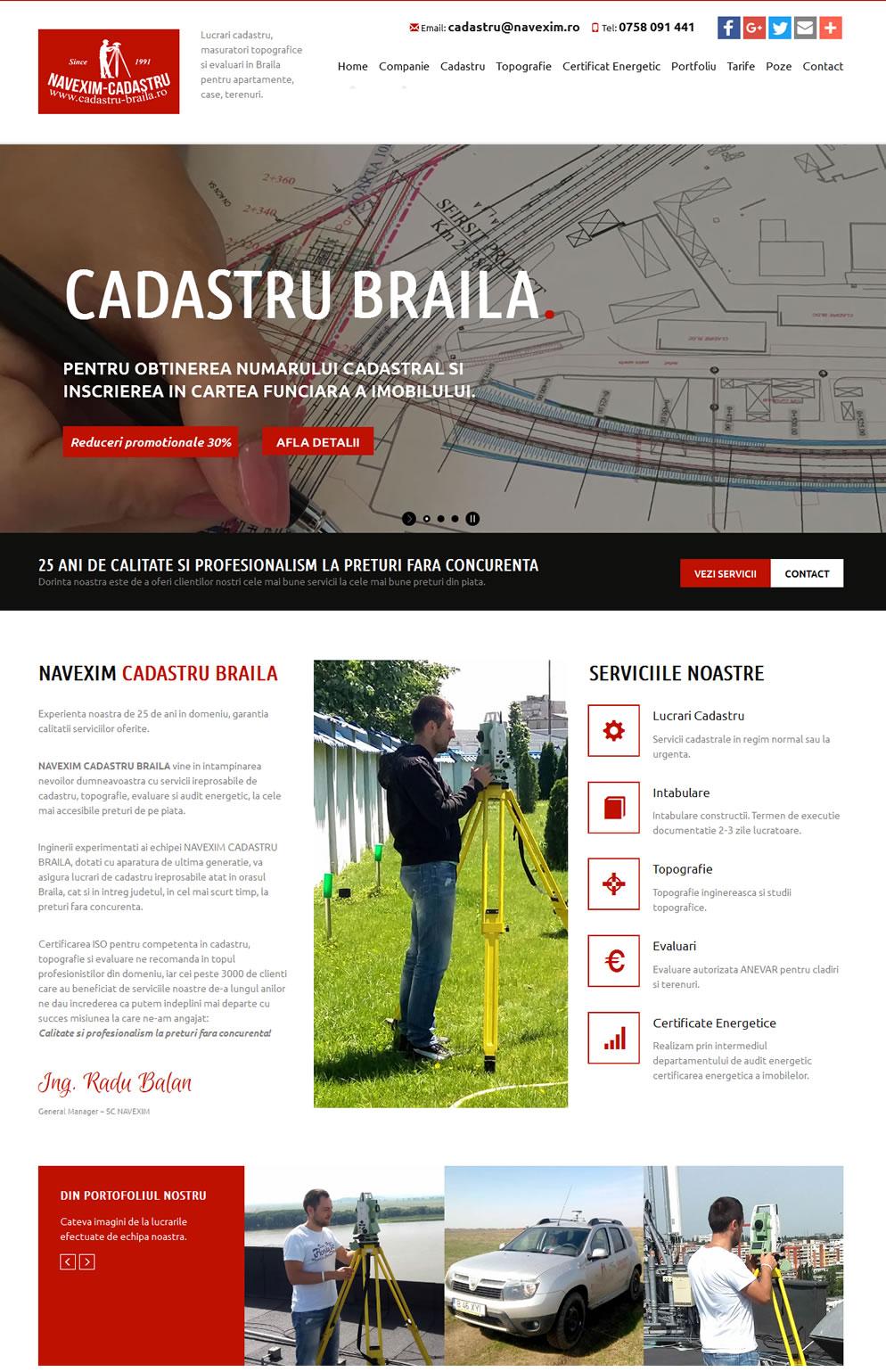 Homepage Cadastru Braila