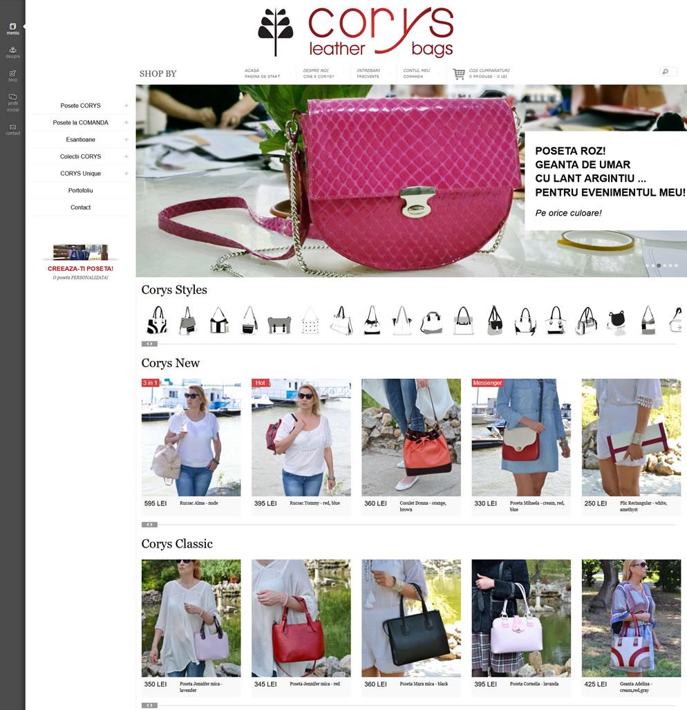 Homepage website corys.ro
