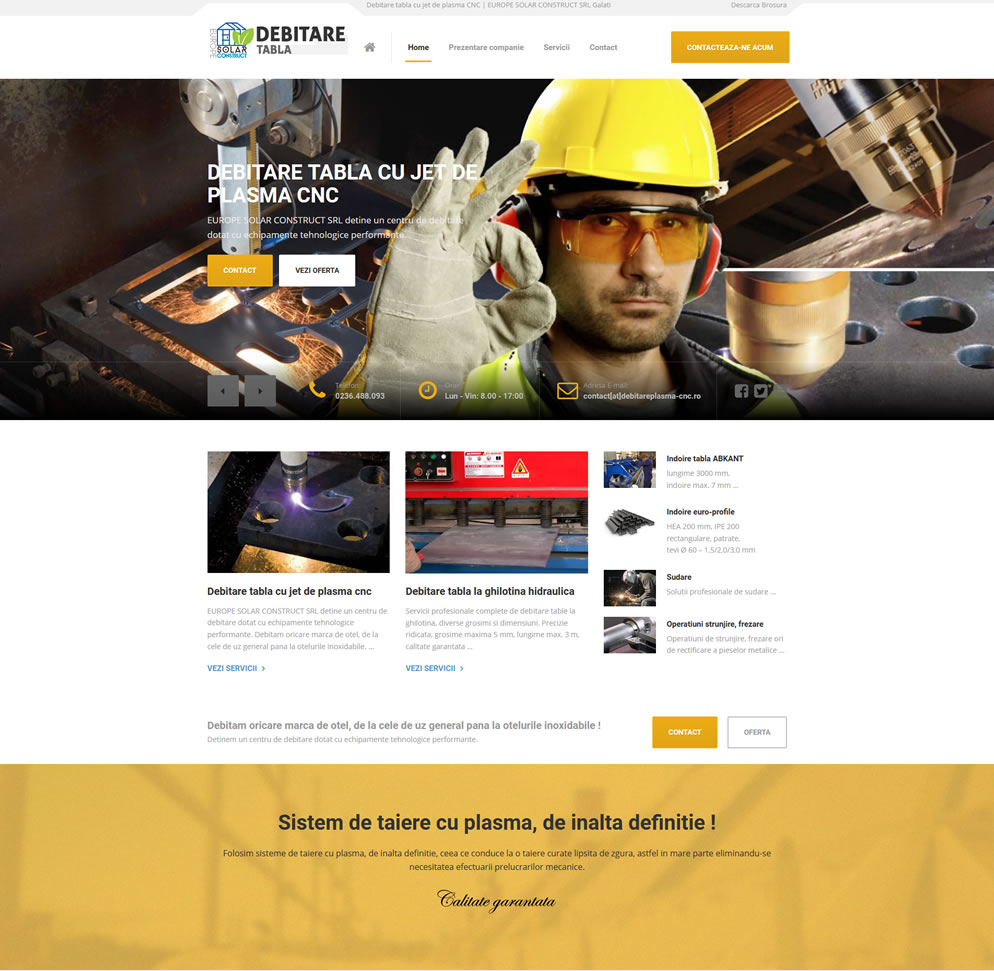 Homepage, Europe Solar Costruct