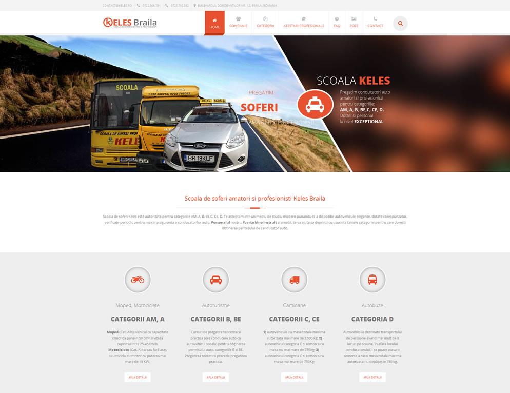 Prima pagina site www.keles.ro