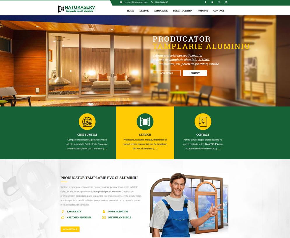 Homepage website Naturaserv | Tamplarie PVC si aluminiu Galati