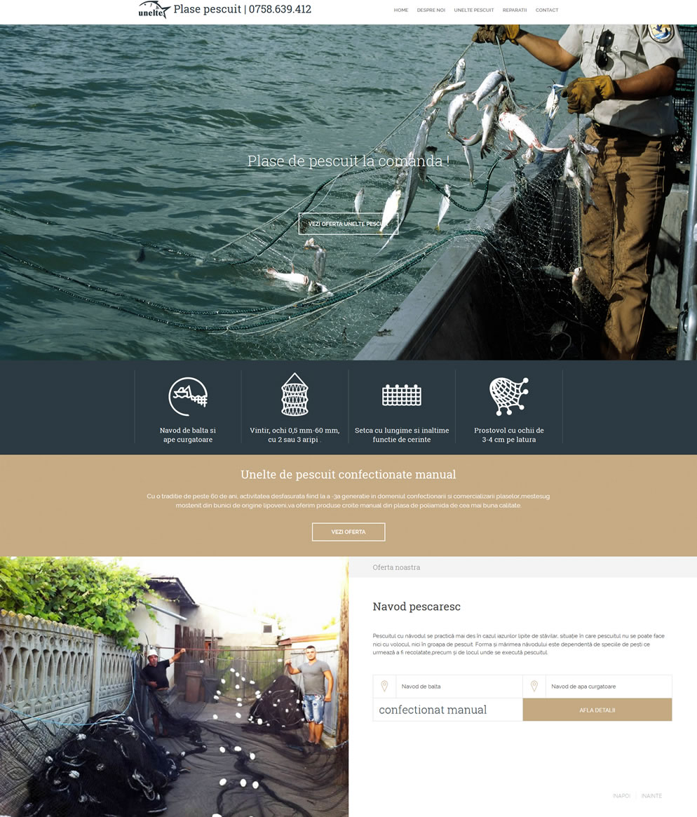 Homepage www.plasepescuit.ro
