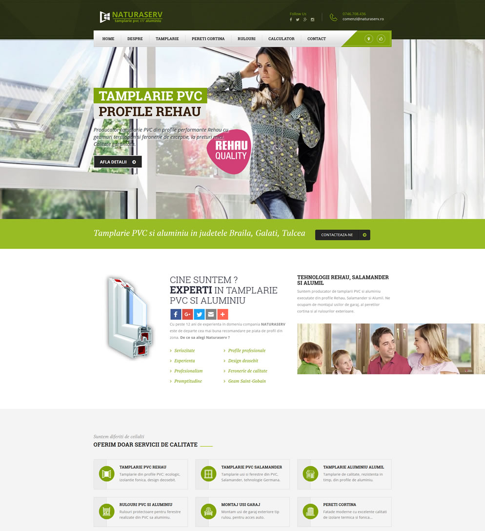 Homepage website rehau-salamander.ro