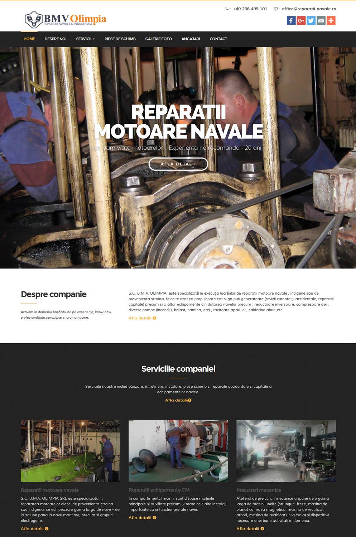Prima pagina site www.reparatii-navale.ro