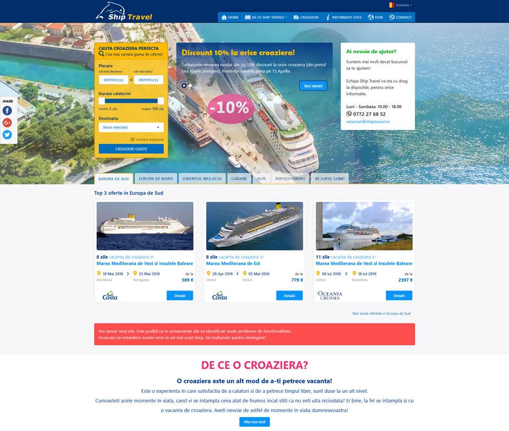 Homepage www.shiptravel.ro