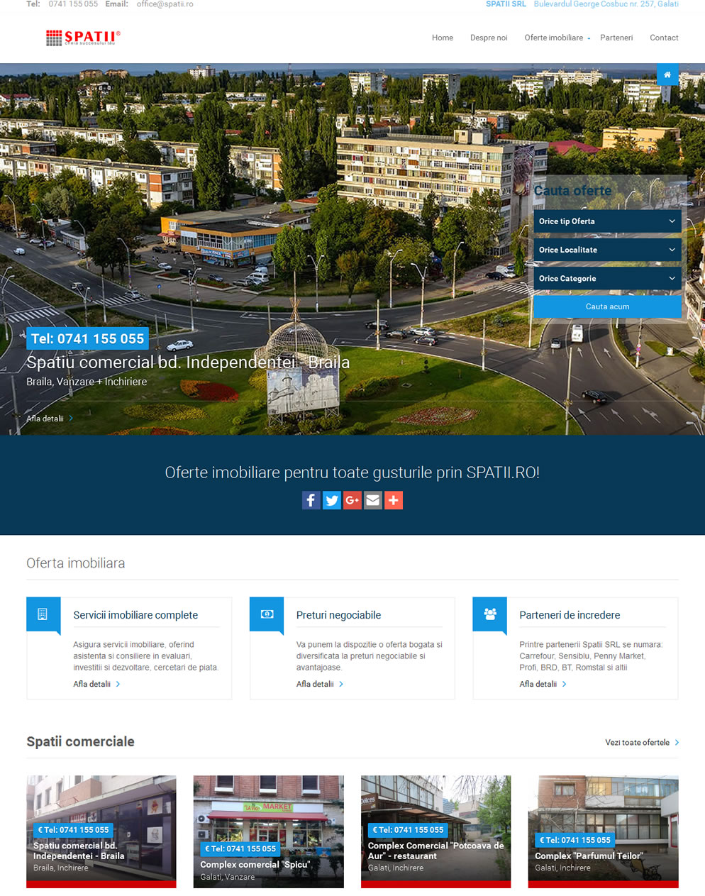 Homepage spatii.ro
